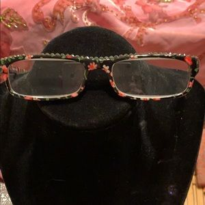 Accessories - 3.0 Reading Glasses*Floral* Rhinestones New w/Case